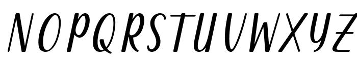 Qeiza Italic Font UPPERCASE