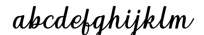 Qeiza Italic Font LOWERCASE