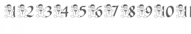 qfd gingerbread advent font Font UPPERCASE