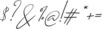 Qiara Script otf (400) Font OTHER CHARS