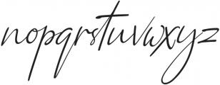 Qiara Script regular otf (400) Font LOWERCASE