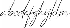 Qiara Script regular ttf (400) Font LOWERCASE