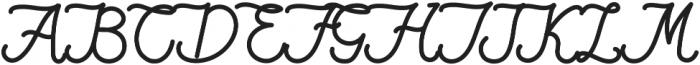 Qiara Tosfa Regular otf (400) Font UPPERCASE