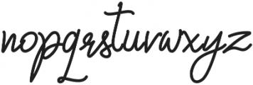 Qiara Tosfa Regular otf (400) Font LOWERCASE