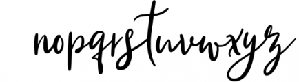 Qillyanst Signature Calligraphy Font LOWERCASE