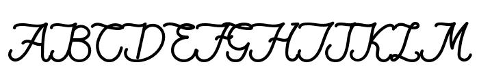 Qiara Tosfa Font UPPERCASE