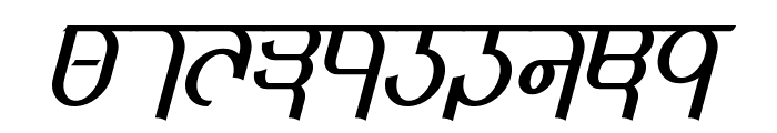 Qijomi Italic Font OTHER CHARS