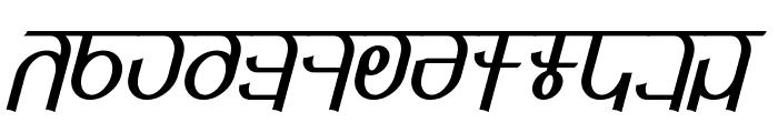 Qijomi Italic Font UPPERCASE