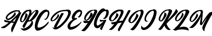 Qintan Script Free Regular Font UPPERCASE