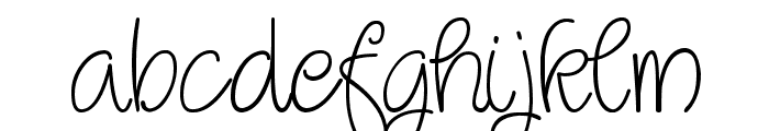 Qirlycues free Font LOWERCASE