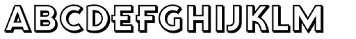 Qi Shadow Font UPPERCASE