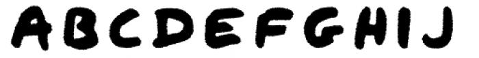 Qipao Rough Font UPPERCASE