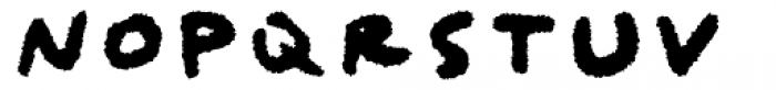 Qipao Rougher Font LOWERCASE
