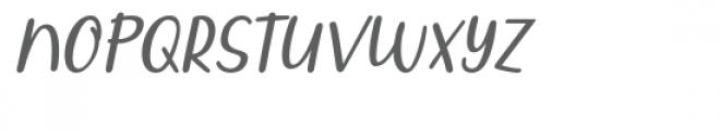 Qiyoshi Italic Font UPPERCASE