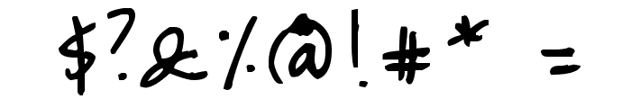 QJae Font OTHER CHARS
