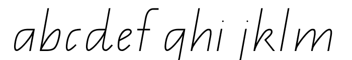QLD Handwriting Font Font LOWERCASE