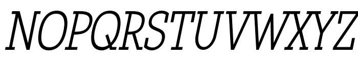 Qlarendon Condensed Italic Font UPPERCASE