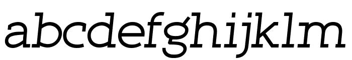 Qlarendon Italic Font LOWERCASE