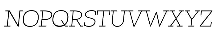 Qlarendon Light Italic Font UPPERCASE