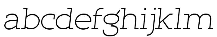 Qlarendon Light Italic Font LOWERCASE