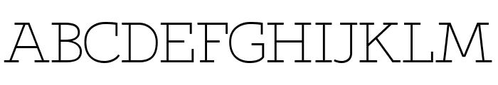 Qlarendon Light Font UPPERCASE