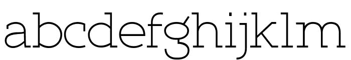 Qlarendon Light Font LOWERCASE