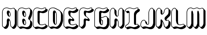 Qlumpy Shadow BRK Font UPPERCASE