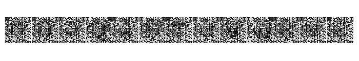 QRcodeX Font UPPERCASE
