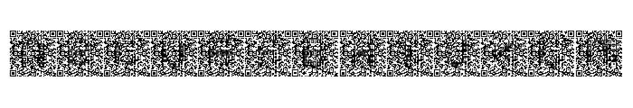 QRcodeX Font LOWERCASE