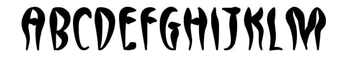 Qreepy free Font LOWERCASE