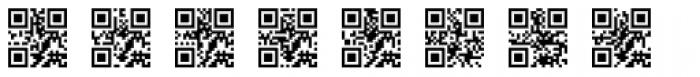QR Code Font UPPERCASE