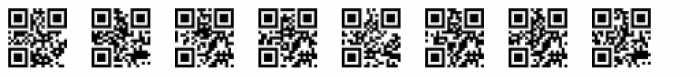 QR Code Font LOWERCASE