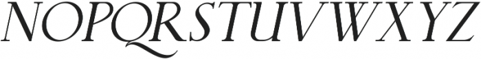 QUENSTOWN SERIF ITALIC otf (400) Font UPPERCASE