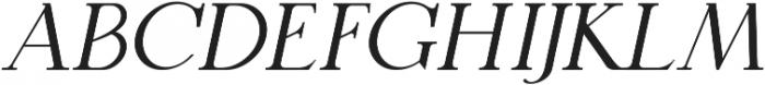QUENSTOWN SERIF ITALIC otf (400) Font LOWERCASE
