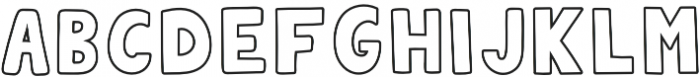 QUIRKY OUTLINE otf (400) Font UPPERCASE