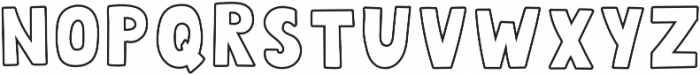 QUIRKY OUTLINE otf (400) Font LOWERCASE