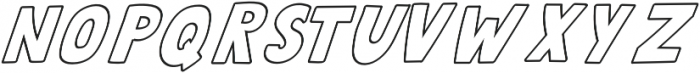 QUIRKY Outline Italic otf (400) Font LOWERCASE