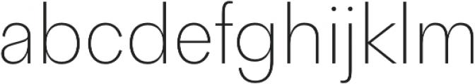 Quadra ExtraLight otf (200) Font LOWERCASE