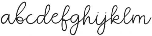 QuaintGarden Regular otf (400) Font LOWERCASE