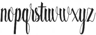 Quality otf (400) Font LOWERCASE