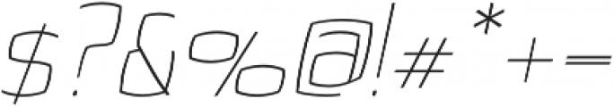 Quam Thin Italic otf (100) Font OTHER CHARS