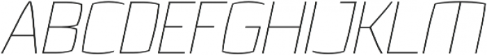 Quam Thin Italic otf (100) Font UPPERCASE