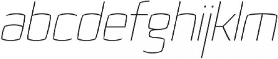 Quam Thin Italic otf (100) Font LOWERCASE