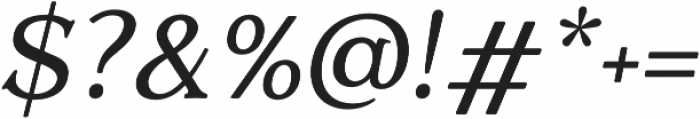 Quantik Regular-Italic otf (400) Font OTHER CHARS
