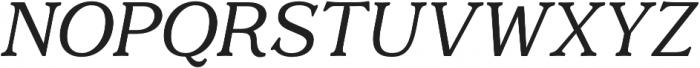 Quantik Regular-Italic otf (400) Font UPPERCASE