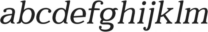 Quantik Regular-Italic otf (400) Font LOWERCASE