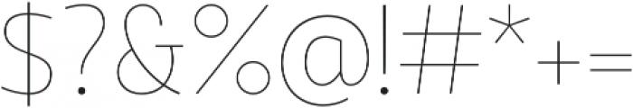 Quark otf (100) Font OTHER CHARS