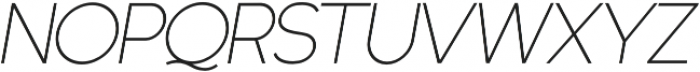 Quartz Grotesque Oblique otf (400) Font UPPERCASE