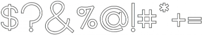 Quartz Grotesque Outlined otf (400) Font OTHER CHARS