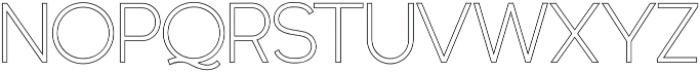 Quartz Grotesque Outlined otf (400) Font LOWERCASE